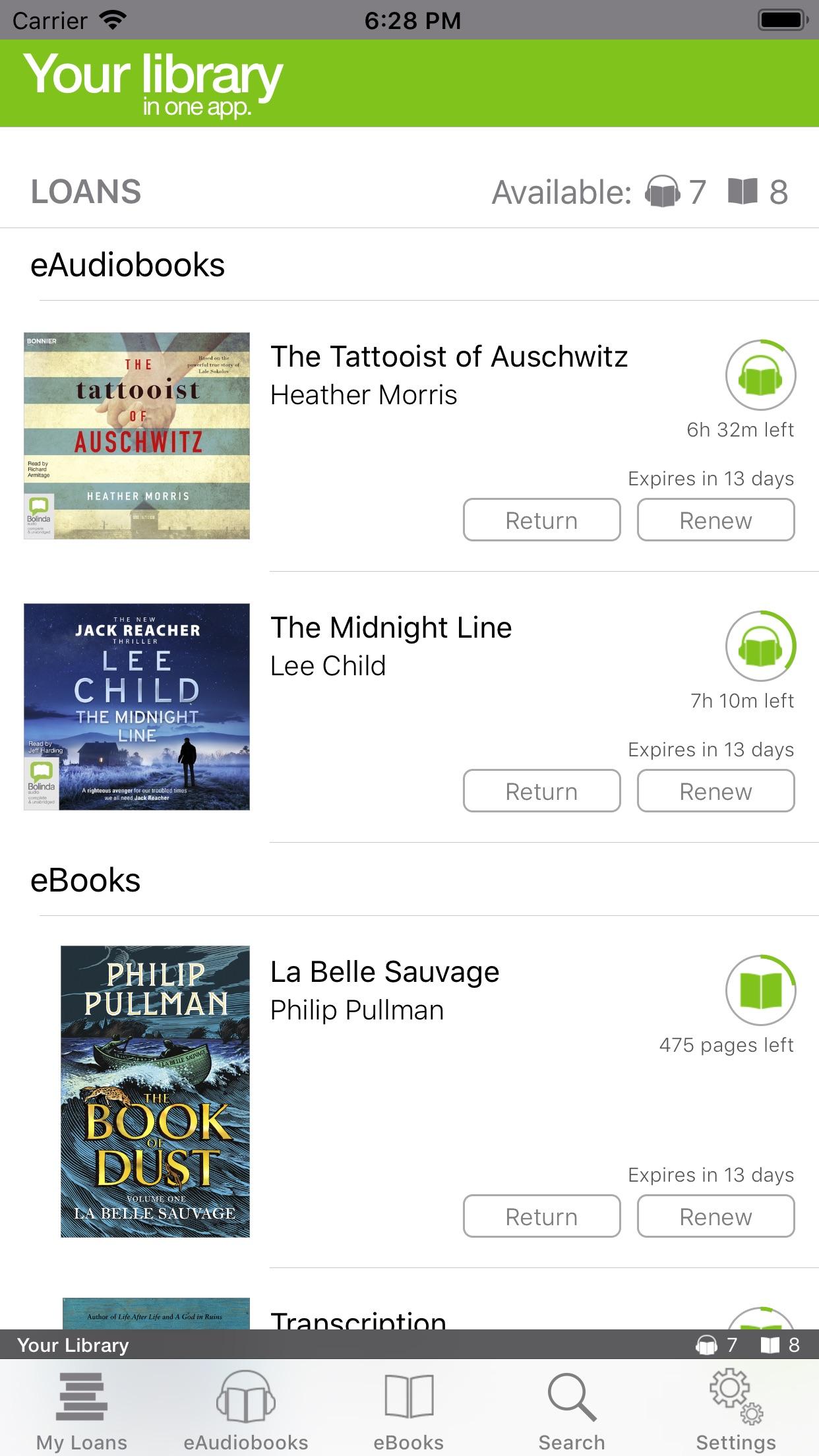 BorrowBox Library Screenshot