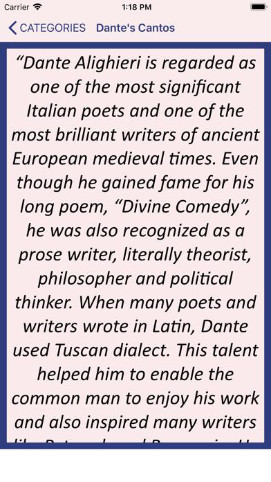 Dante's Cantos Screenshot