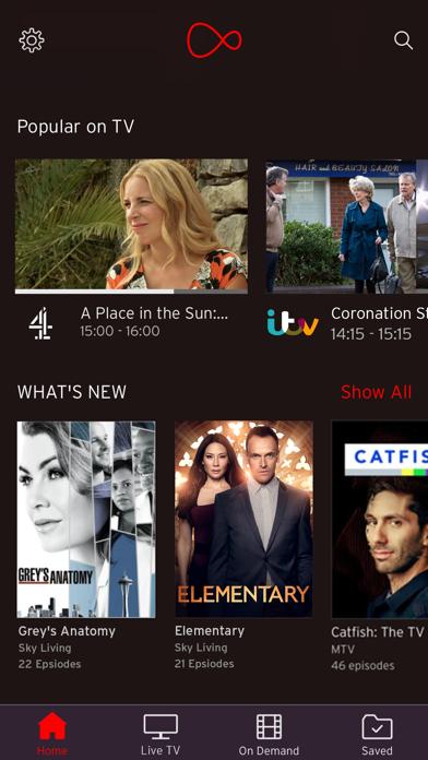 Virgin TV Go screenshot one