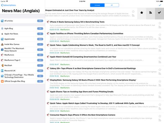 Screenshot #4 pour tiny Reader RSS