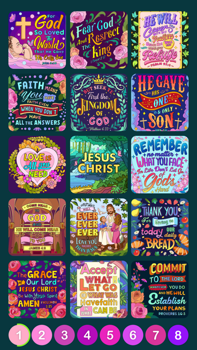 bible coloring paint by number on windows pc