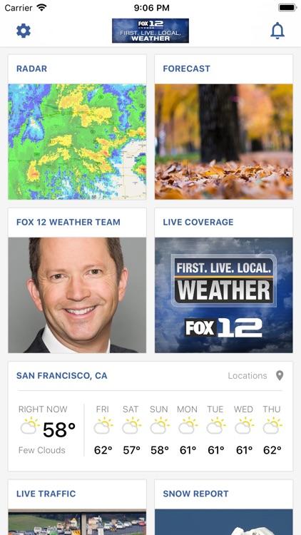 Portland Weather App -Fox 12