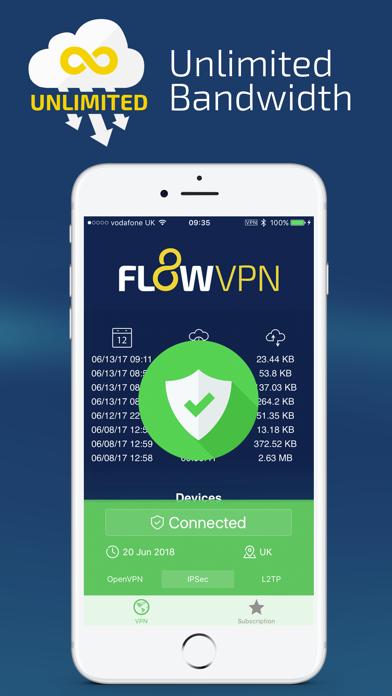 Flow VPN - Unlimited Fast VPNのおすすめ画像3