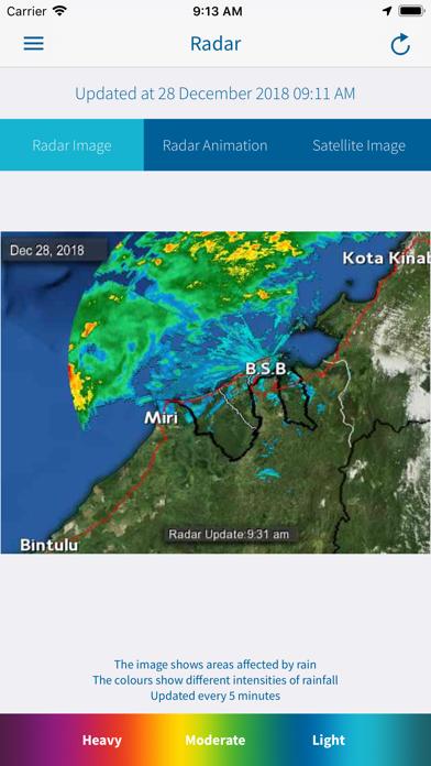 Brunei WX screenshot four