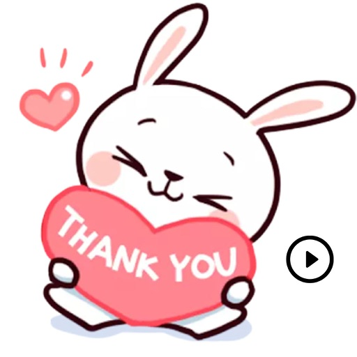 Animated Cute Bunny Stickers