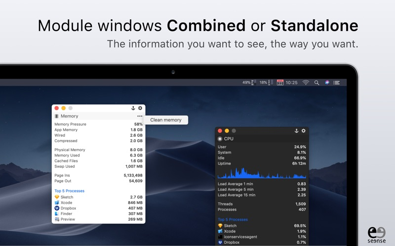 MenuBar Stats Screenshot 3