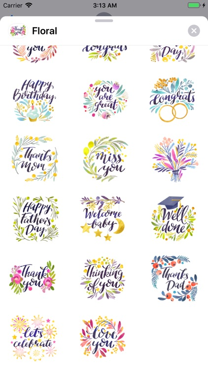 Floral Wishes & Greetings Pack