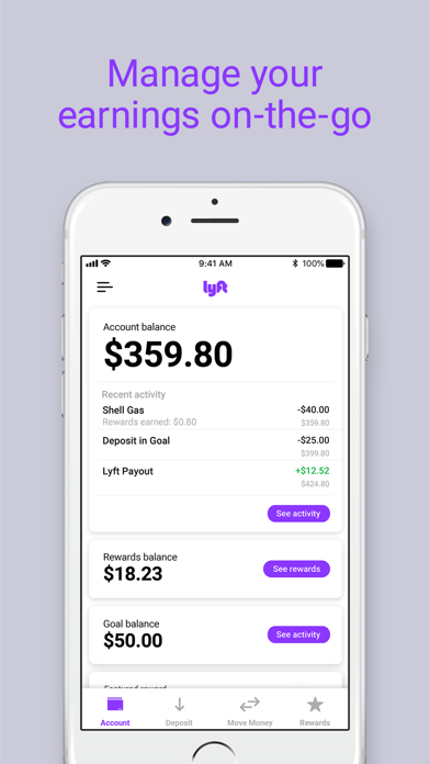 Screenshot for Lyft Direct Powered By Payfare in United States App Store