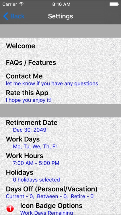 Retirement CountDown Ad Free