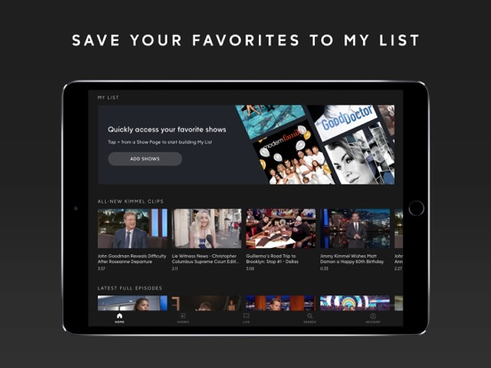 ABC – Live TV & Full Episodes by ABC Digital (iOS, United States
