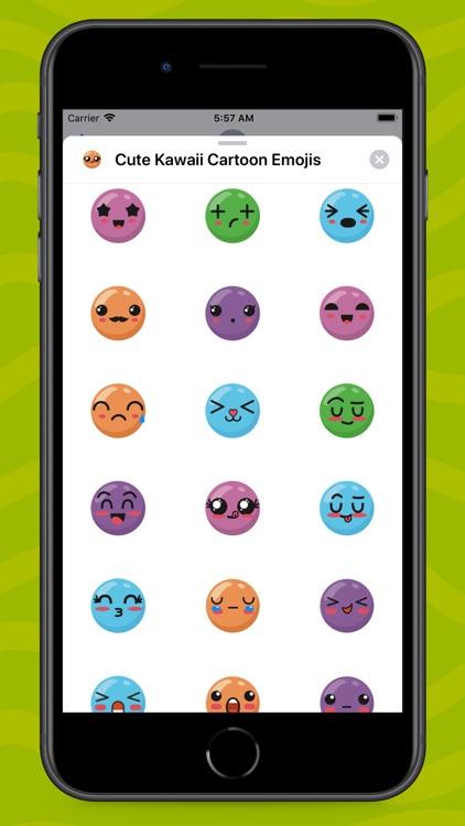 Cute Kawaii Cartoon Emojis screenshot-4