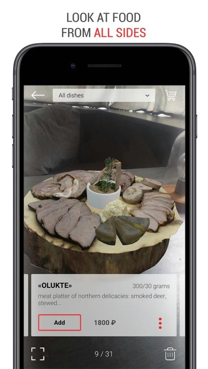 Menu AR Augmented Reality Food screenshot-3