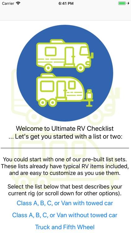 Ultimate RV Checklist