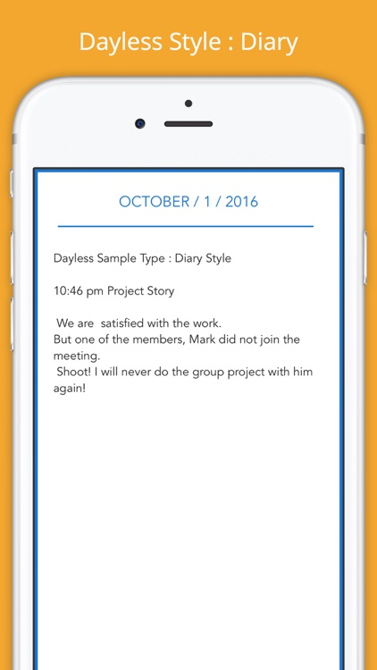 Dayless - Simple Diary App screenshot-1
