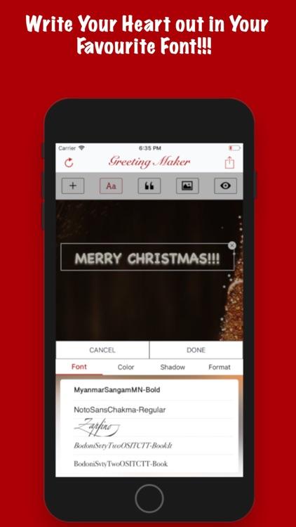 Greeting Maker-Holiday Invite screenshot-4