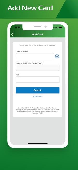 xpectations prepaid card balance