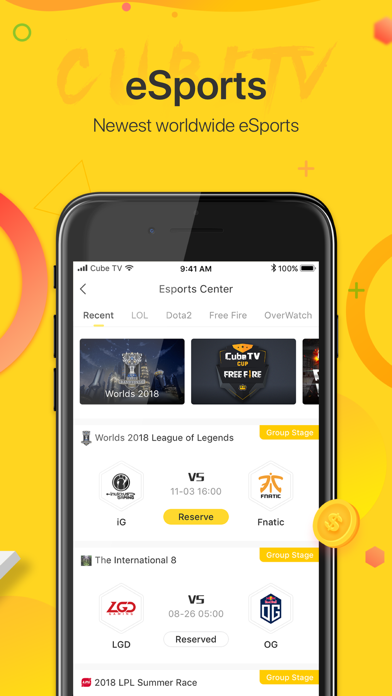 Cube TV – Live Games Community Screenshot