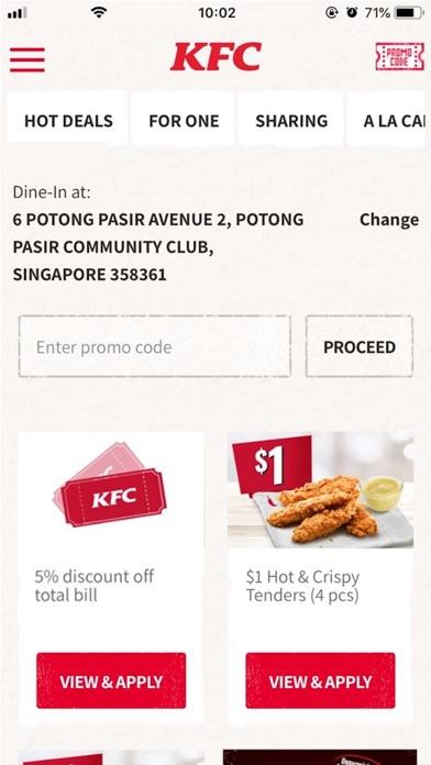 Screenshot for KFC Singapore in Singapore App Store