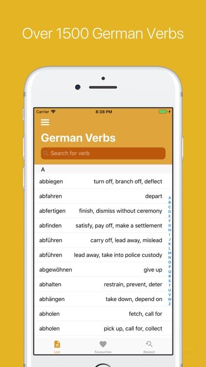 German Verb Conjugator Pro screenshot-7
