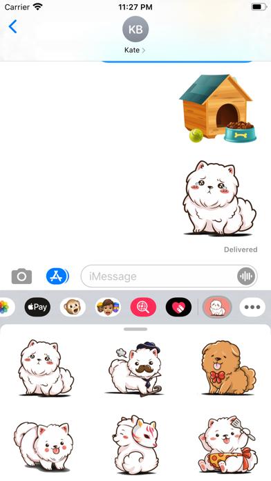 Small Pomeranian Stickers screenshot 2