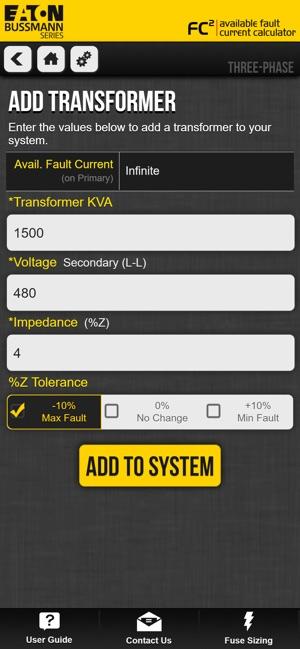 Transformer Calculator App