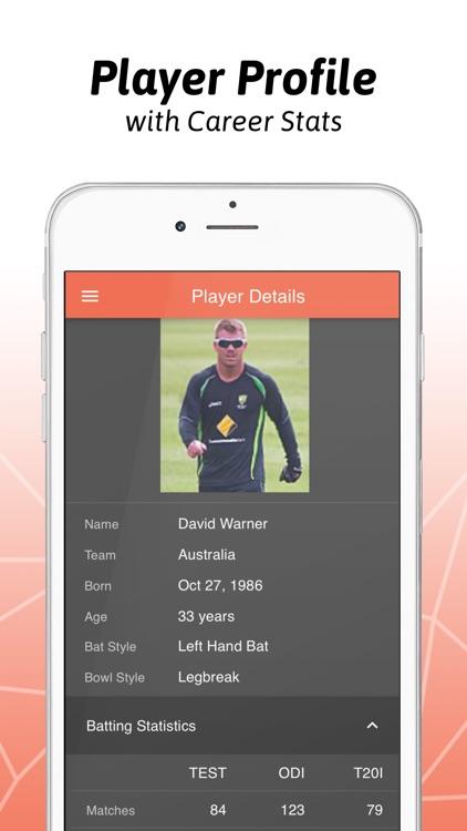 Cricster - Cricket Live Scores screenshot-3