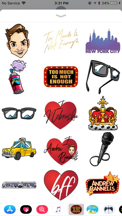 Andrew Rannells Sticker Pack