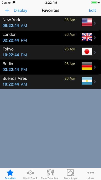 World Clock – Time Zones