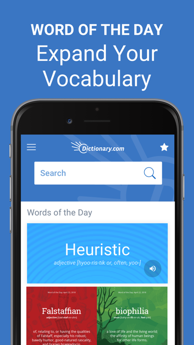 Screenshot for Dictionary.com: English Words in Finland App Store