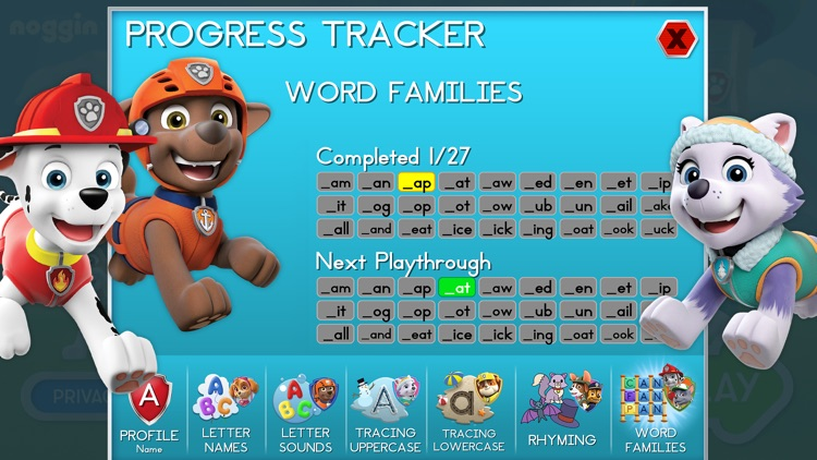 Paw Patrol: Alphabet Learning screenshot-4