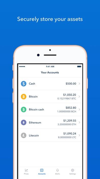 Coinbase – Buy & sell Bitcoin Screenshot on iOS