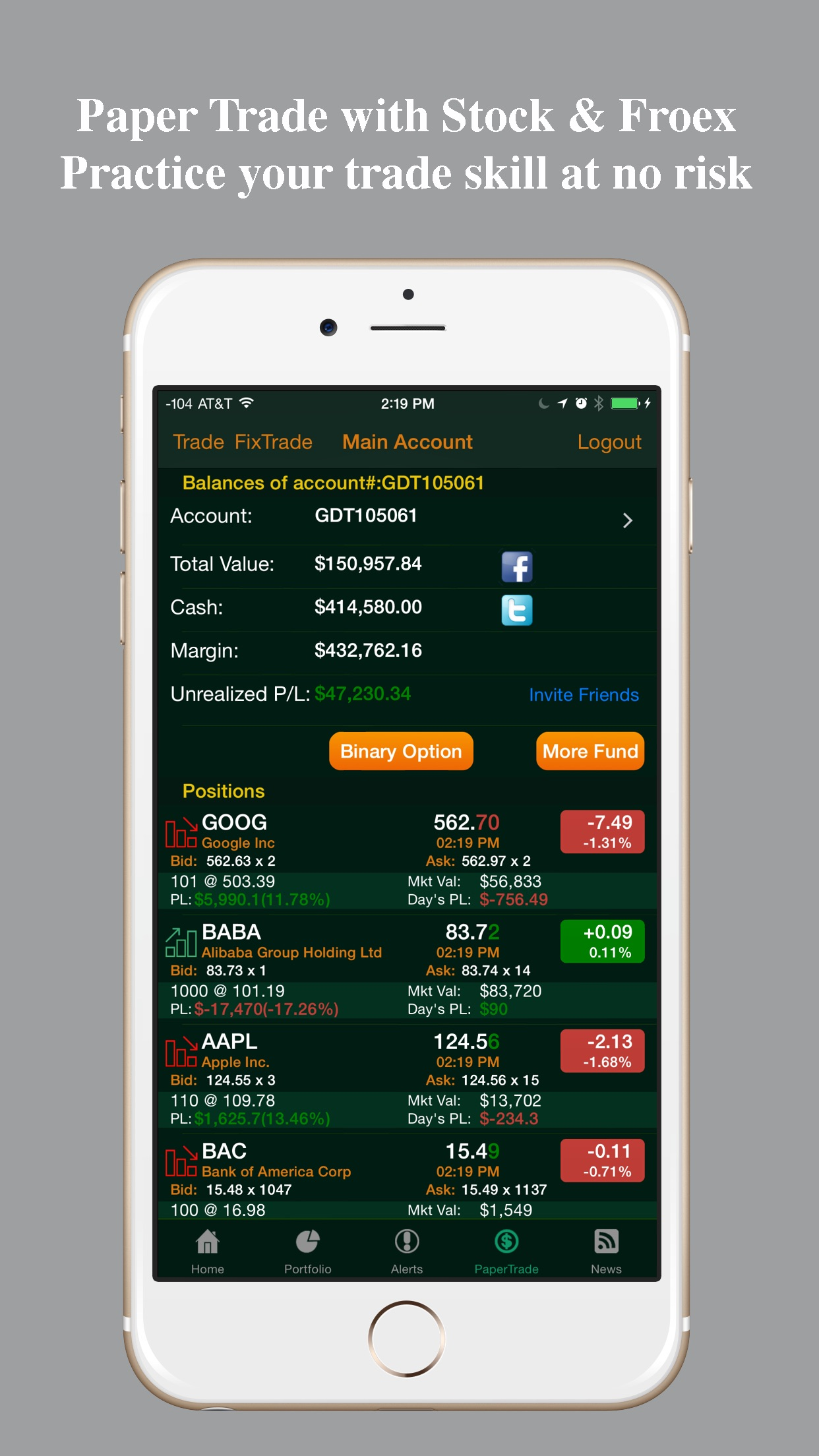 Stocks Tracker:Real-time stock Screenshot