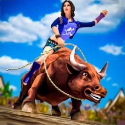 Western Cowboy Bull Rider