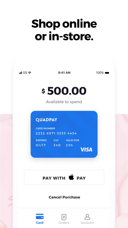QuadPay: Any Store, Split in 4 screenshot-4