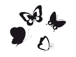 The ButterFliesSt is an art sticker, which are showed the butterfly designs