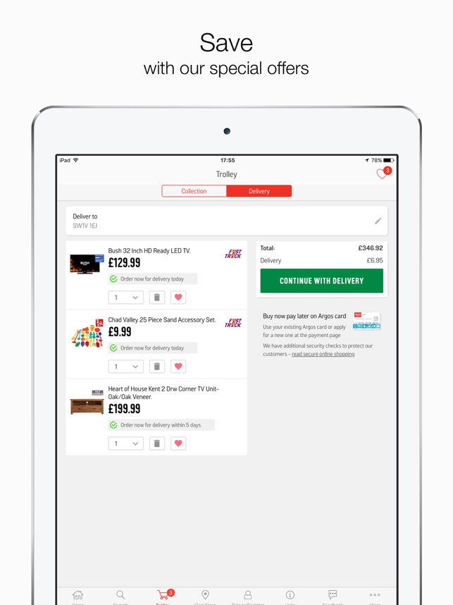 Argos for iPad on the App Store