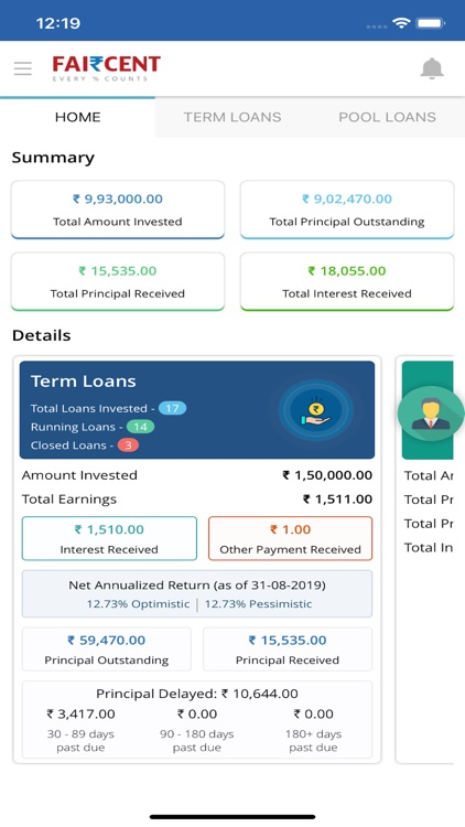 Faircent - P2P Investment screenshot-0