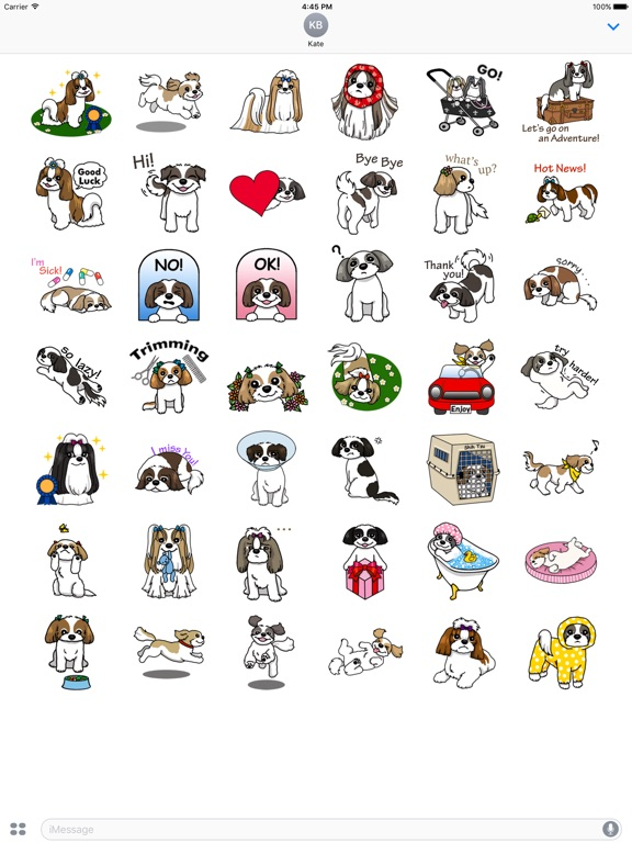 Sweet Shih Tzu Dog Sticker screenshot #1