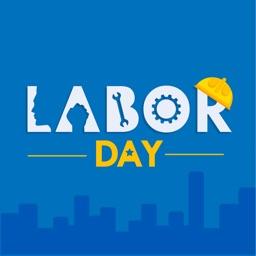 Labor Day USA 2019 Stickers