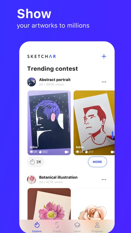 SketchAR: learn how to draw
