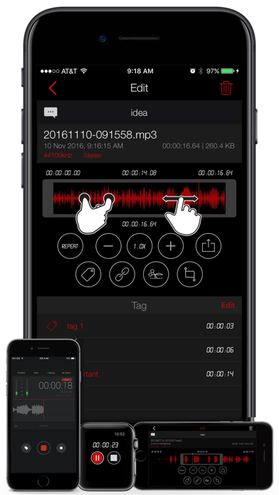 Awesome Voice Recorder PRO AVR Screenshots