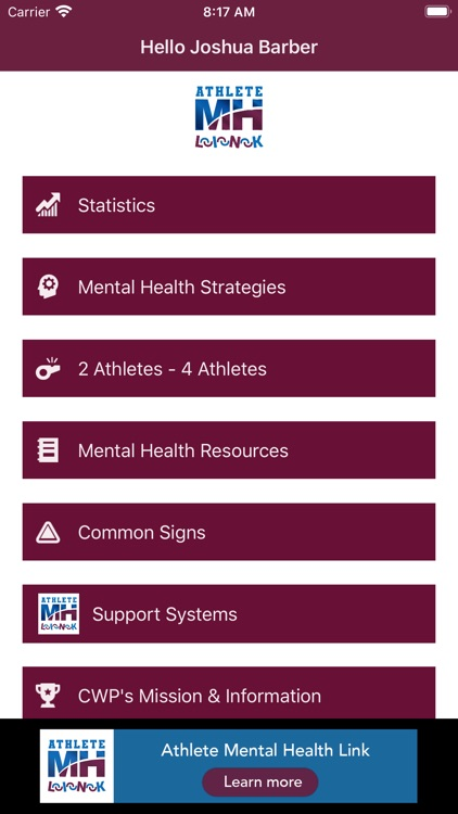 Athlete Mental Health Link