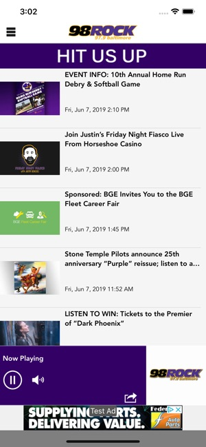 98 Rock Baltimore on the App Store
