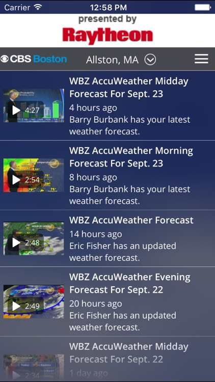 CBS Boston Weather screenshot-3