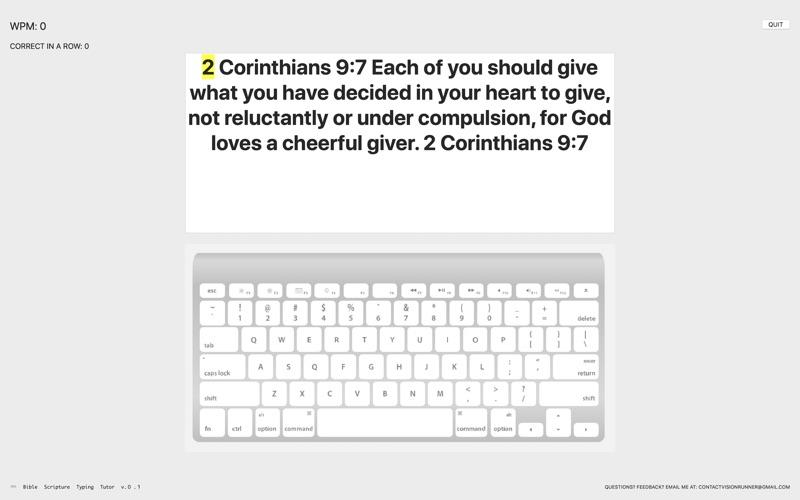 Bible Scripture Typing Tutor for Mac