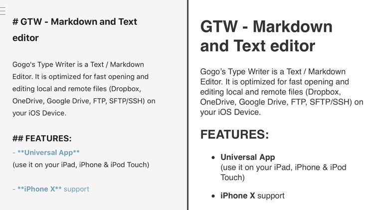 GTW - Markdown & Text Editor screenshot-3