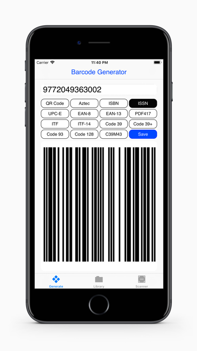 Barcodes Generator App Report on Mobile Action - App Store