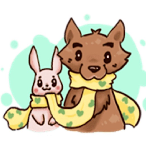 Love of Wolf and Bunny Sticker icon