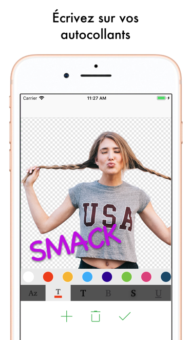 Screenshot for Top Sticker Maker Amusants in France App Store
