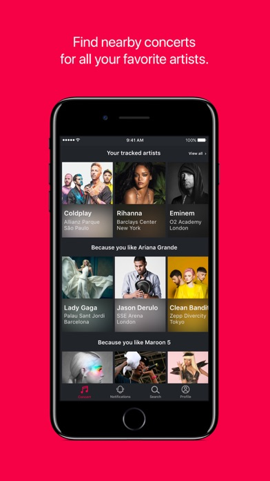 Screenshot for Songkick Concerts in United Kingdom App Store